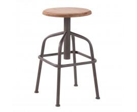 Štýlová stolička NATURAL drevo-kov