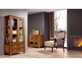 Štýlová drevená obývačka Star z masívu hnedej farby