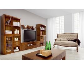 Luxusná drevená obývacia stena Star z masívneho dreva
