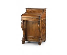 Koloniálny luxusný písací stolík so sekretárom M-VINTAGE z mahagónového masívu 95cm