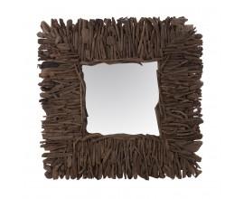Dizajnové štvorcové zrkadlo NATURAL 100x100cm