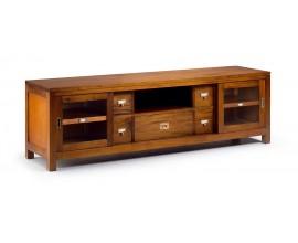 Štýlový luxusný TV stolík s posuvnými dverami z masívu Flamingo