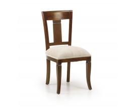 Koloniálna jedálenská stolička M-Vintage s béžovým čalúnením 95cm