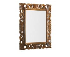 Zámocké nástenné zrkadlo M-VINTAGE v hnedej farbe 110cm