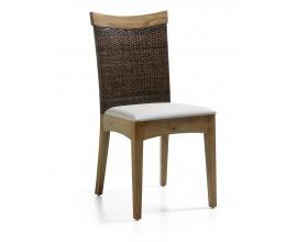 Štýlová stolička MERAPI RATTAN čalúnená