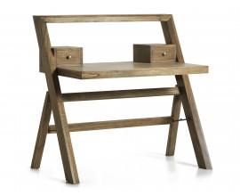 Štýlový dizajnový písací stôl MERAPI s dvomi zásuvkami