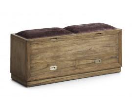 Luxusná štýlová lavica  MERAPI s dvomi zásuvkami a úložným priestorom