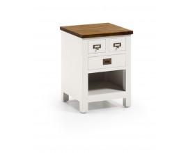 Nočný stolík NEW WHITE combi