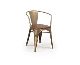 Dizajnová stolička BRUSHED s opierkami