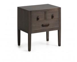 Luxusný štýlový nočný stolík SPARTAN s tromi zásuvkami