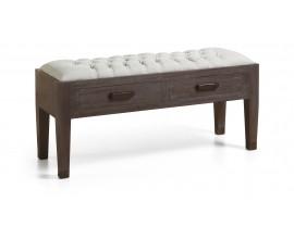 Luxusná štýlová lavica SPARTAN čalúnená so zásuvkami