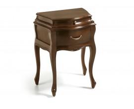 Rustikálny nočný stolík M-VINTAGE s dvomi zásuvkami