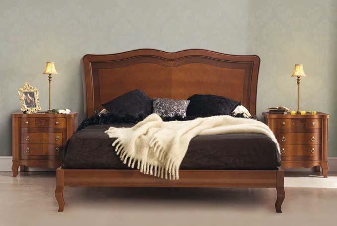 Luxusná rustikálna posteľ Castilla do spílne v klasickom štýle