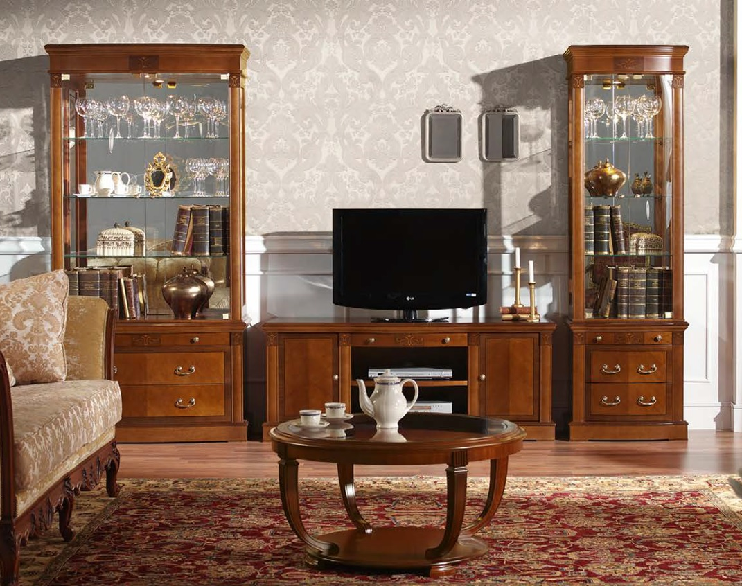 Rustikálna obývacia zostava v klasickom štýle