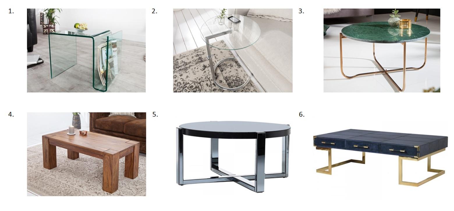 Výber konferenčného stolíka podľa materiálu a prevedenia