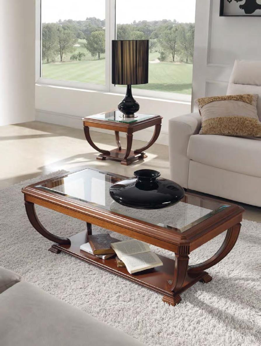 Luxusný rustikálny konferenčný stolík tmavohnedej farby