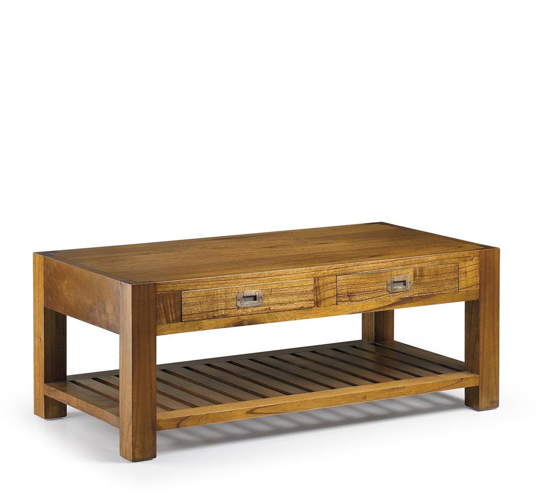 Moycor luxusný konferenčný stolík z tmavého masívneho dreva Mindi