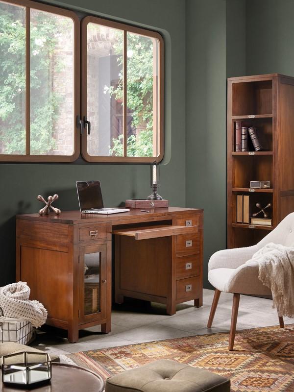 Luxusný nábytok do pracovne z mahagónového masívneho dreva Flamingo