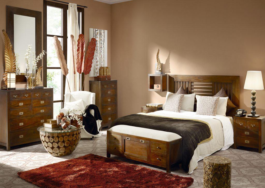 Moycor luxusný nábytok do spálne Flamingo z mahagónového tmavého dreva