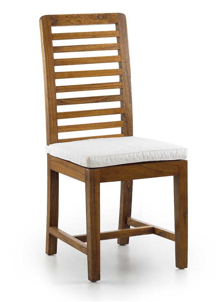 Luxusná stolička z tmavohnedého masívneho dreva Mindi