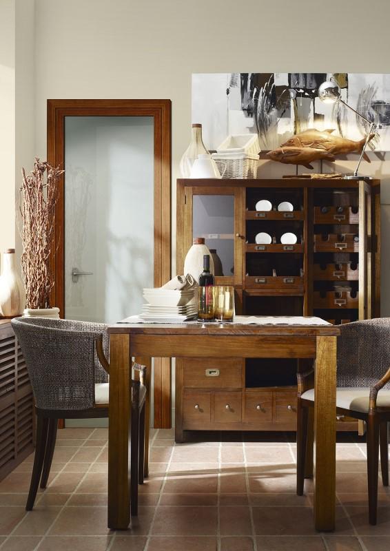 Moycor Luxusný nábytok do jedálne z tmavého dreva tmavohnedej farby mahagón