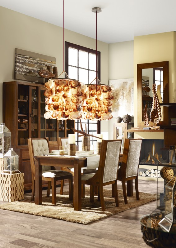 Moycor luxusný nábytok do jedálne z tmavého mahagónového dreva