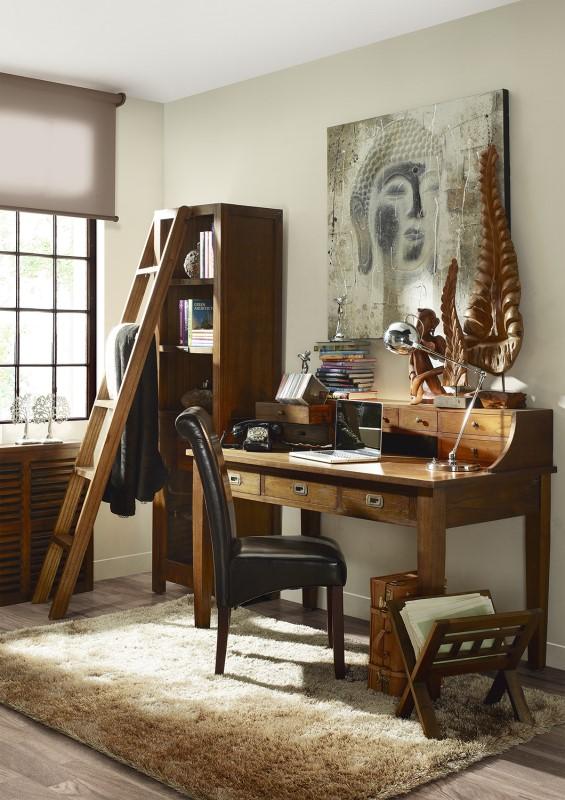 Moycor luxusný nábytok do klasickej pracovne z tmavého masívneho dreva Mindi