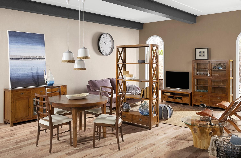 Moycor Luxusný nábytok do obývacej izby z tmavého masívneho dreva